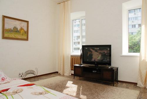 1-комнатная квартира посуточно в Киеве. Голосеевский район, ул. Владимирская, 82В. Фото 1