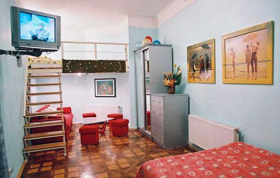1-комнатная квартира посуточно в Львове. Лычаковский район, ул. К. Левицкого, 12. Фото 1