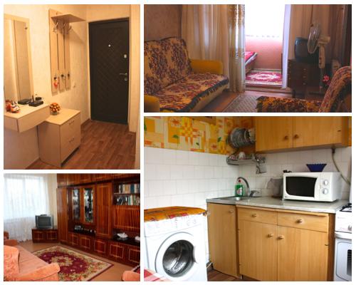 2-комнатная квартира посуточно в Севастополе. Гагаринский район, пр-т Октябрьской революции, 89. Фото 1