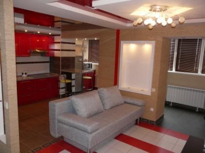 1-комнатная квартира посуточно в Симферополе. Центральный район, ул. Самокиша, 4. Фото 1