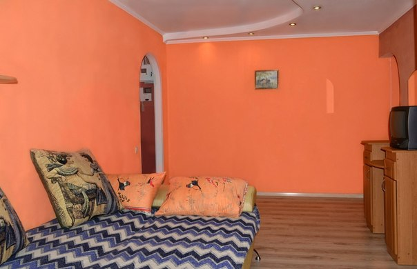 1-комнатная квартира посуточно в Алчевске. ул. Чапаева, 168. Фото 1