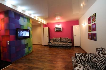 1-комнатная квартира посуточно в Донецке. Киевский район, ул. Университетская, 63. Фото 1