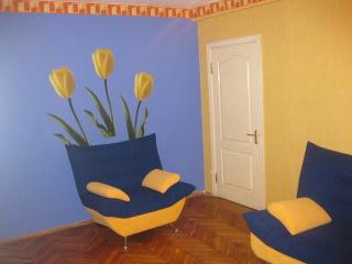 2-комнатная квартира посуточно в Киеве. Печерский район, ул. Красноармейская, 85. Фото 1